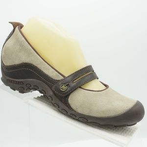 Merrell Plaza Bandeau Sz 8 Brown Mary Jane Shoes
